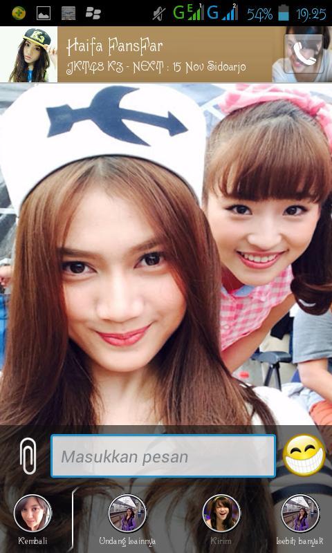 Melody & Haruka BBM Android JKT48