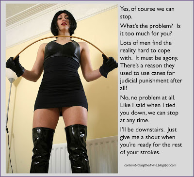 Femdom continuous caning