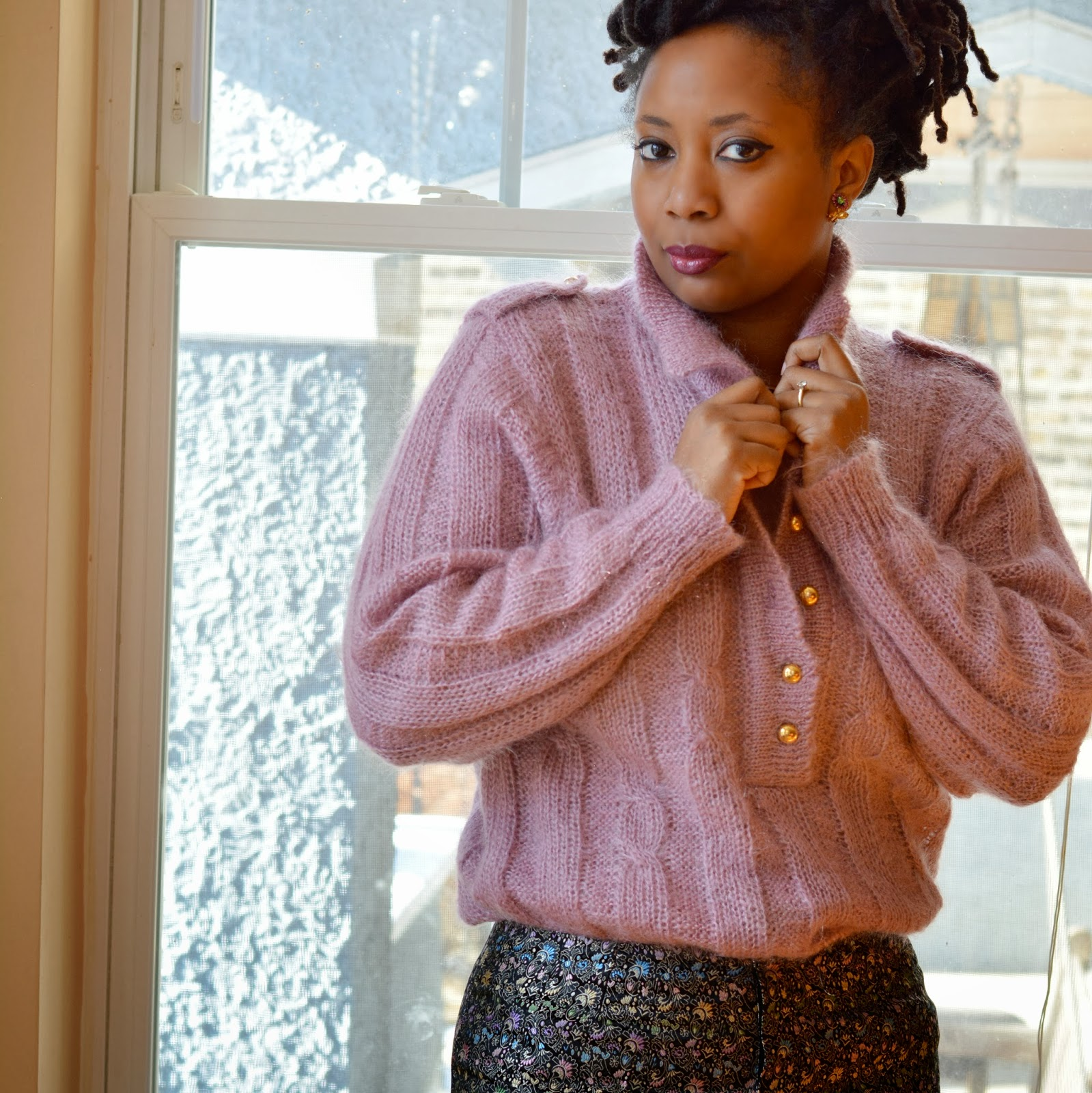 radiant orchid epaulet sweater