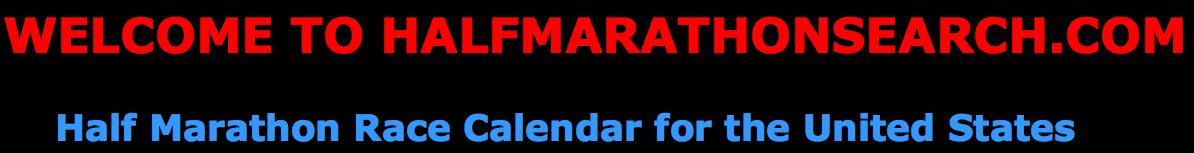 January Half Marathon Calendar in the United States