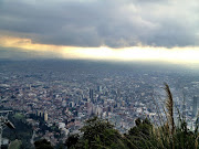View of Bogota from the top of the Monserrate (bogota monserrate)