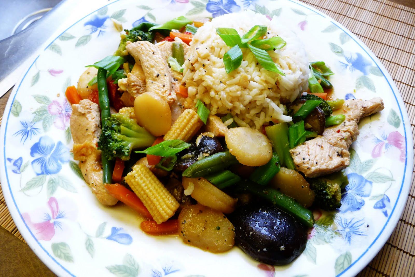 Saltedo de jengibre y pollo con vegetales cocina facil for Que cocinar con pollo