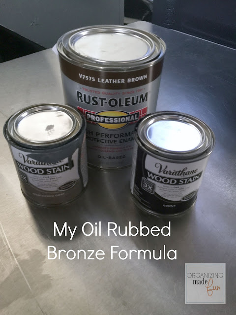 How to turn brass into oil rubbed bronze :: OrganizingMadeFun.com