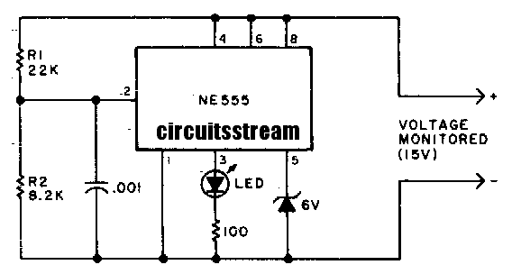build a under voltage indicator circuit diagram