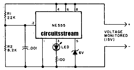 under voltage indicator circuit diagram