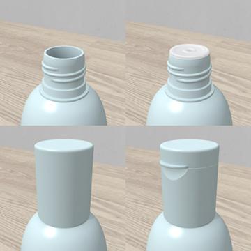 プラスチック容器 「円柱型ボトル」  - Plastic container 3D objects