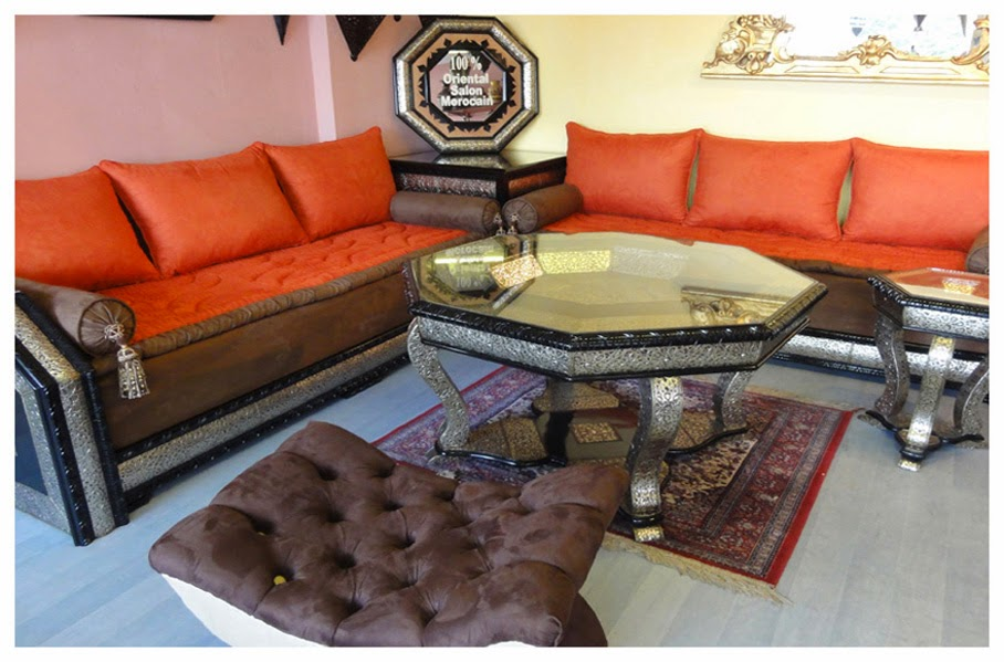 salon marocain biladi orange
