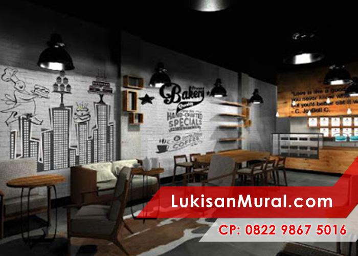 Lukisan mural untuk dekorasi interior artistik dan modern for Mural untuk cafe