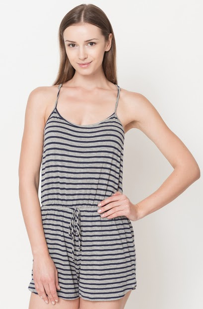 Buy online cheap mini striped rompers for women on sale at caralase.com