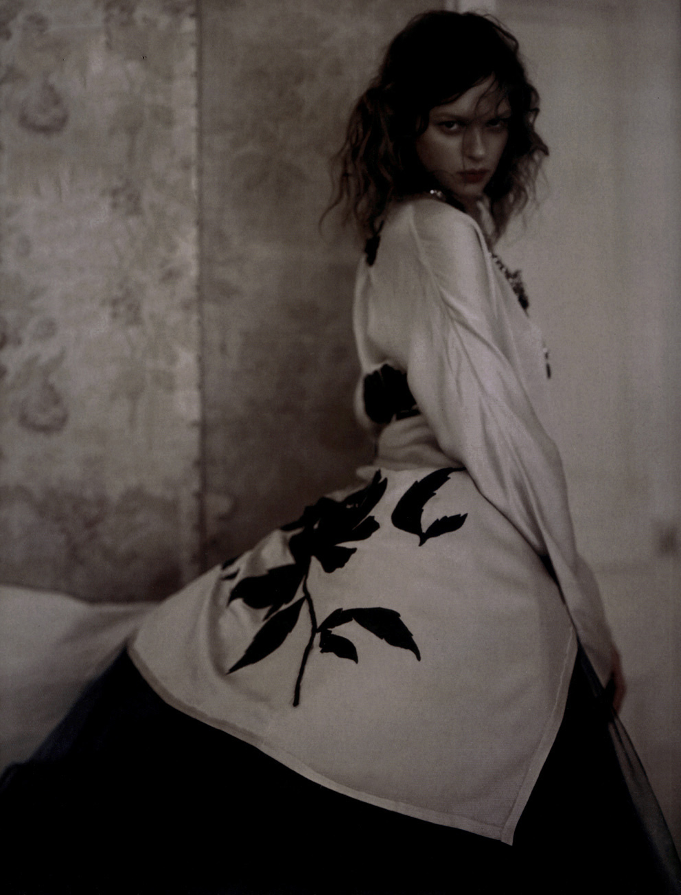 Elise Crombez in Lanvin by Alber Elbaz photographed by Paolo Roversi for Vogue Uk September 2004 via www.fashionedbylove.co.uk