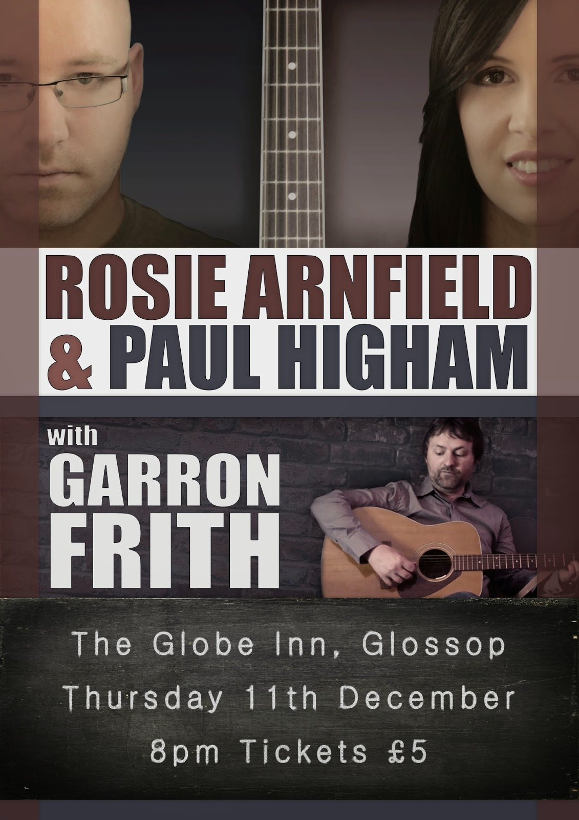 Rosie Arnfield & Paul Higham with Garron Frith