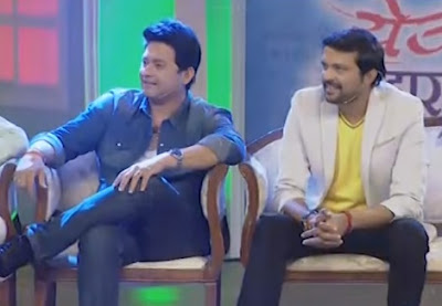 Chala Hawa Yeu Dya   Goa   Swapnil Joshi And Ankush Chaudhari Welcome Song