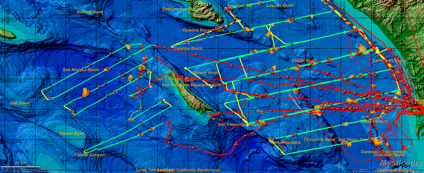 mysticetus will provide survey wide effort and sighting totals here s a map of a week s worth of aerial surveys all integrated into a single database
