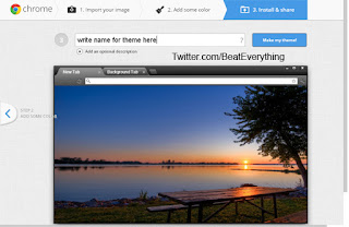 How to create theme for Google Chrome, Preview and name your theme