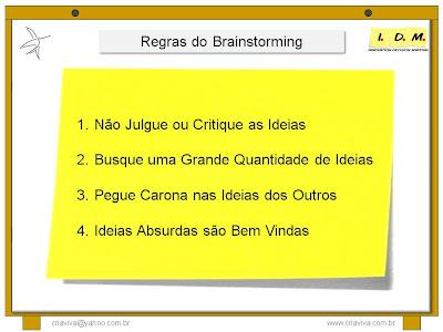 Regras Brainstorming Nao Julgue Critique Quantidade