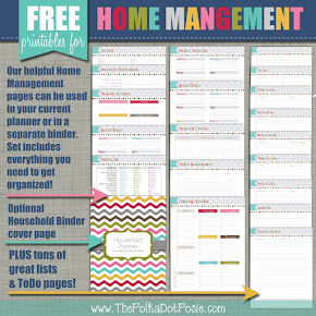 FREE Home Management Planner Printables