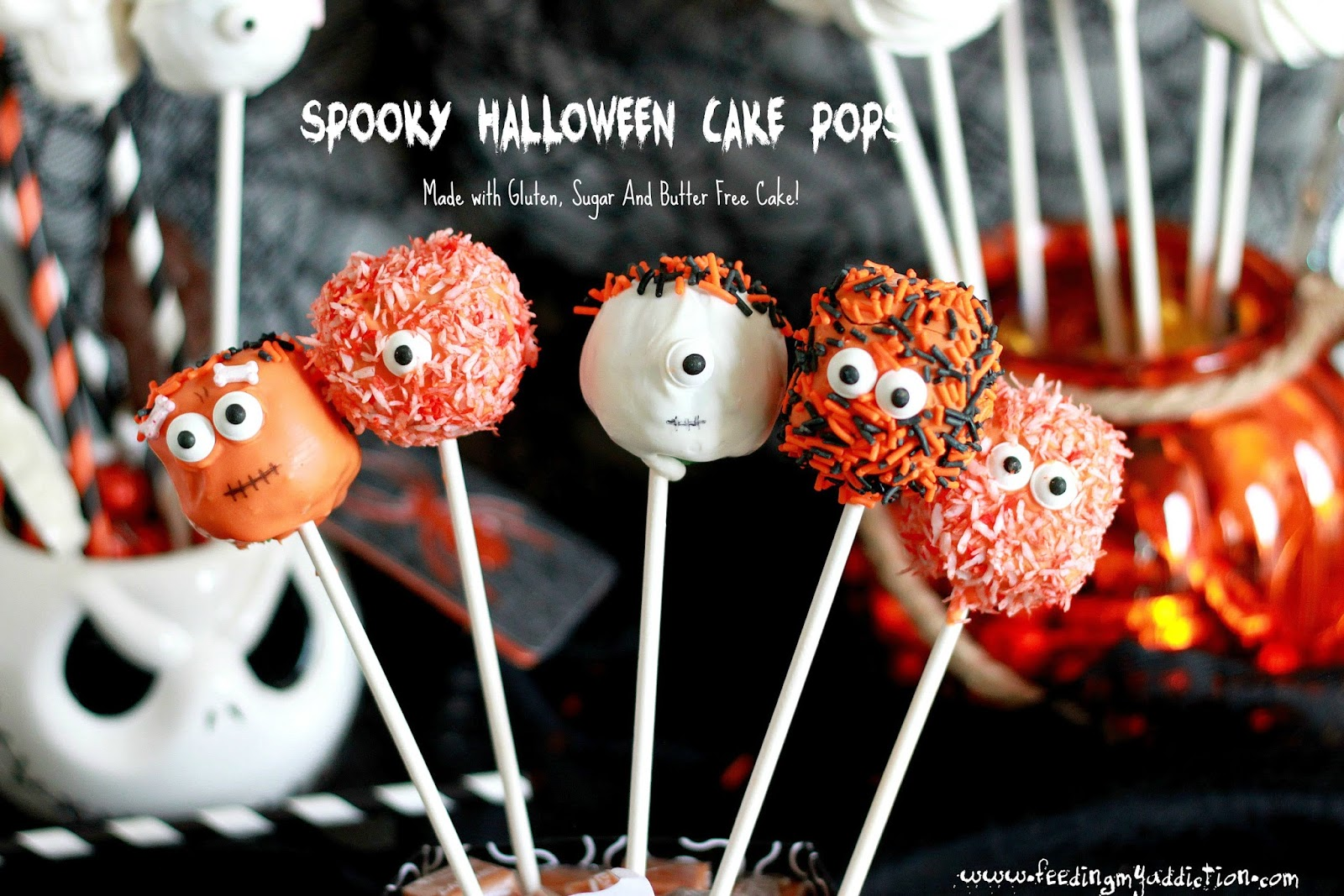 feeding my addiction: spooky halloween cake pops