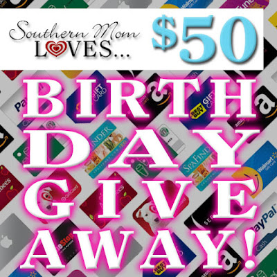 Enter the $50 Birthday Giveaway. Ends 7/31