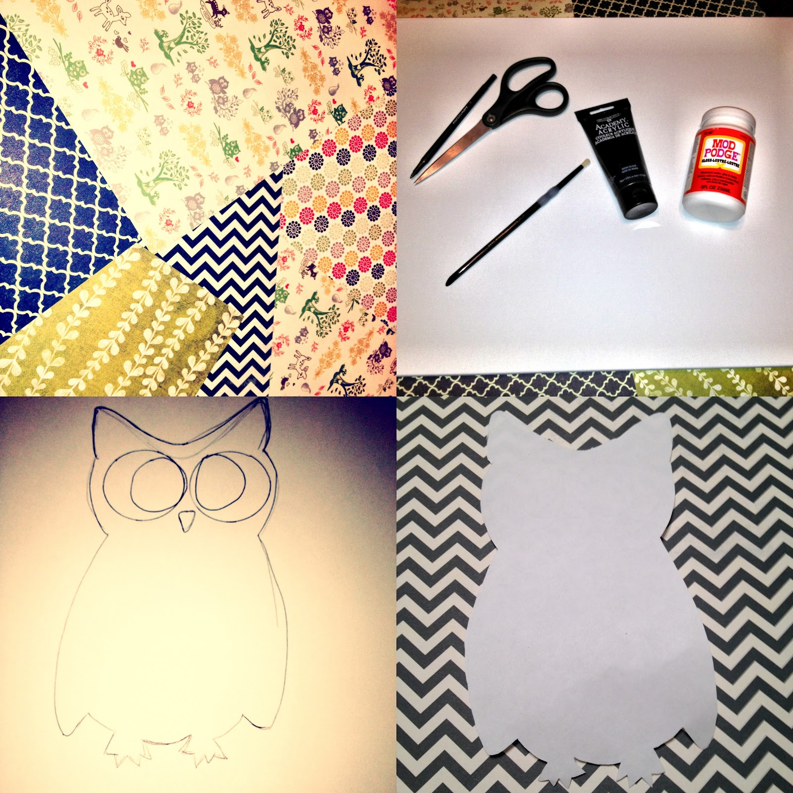 Harper and Colette: A Week of Fall: DIY Owl Canvas.