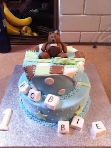 Robbies First Birthday cake