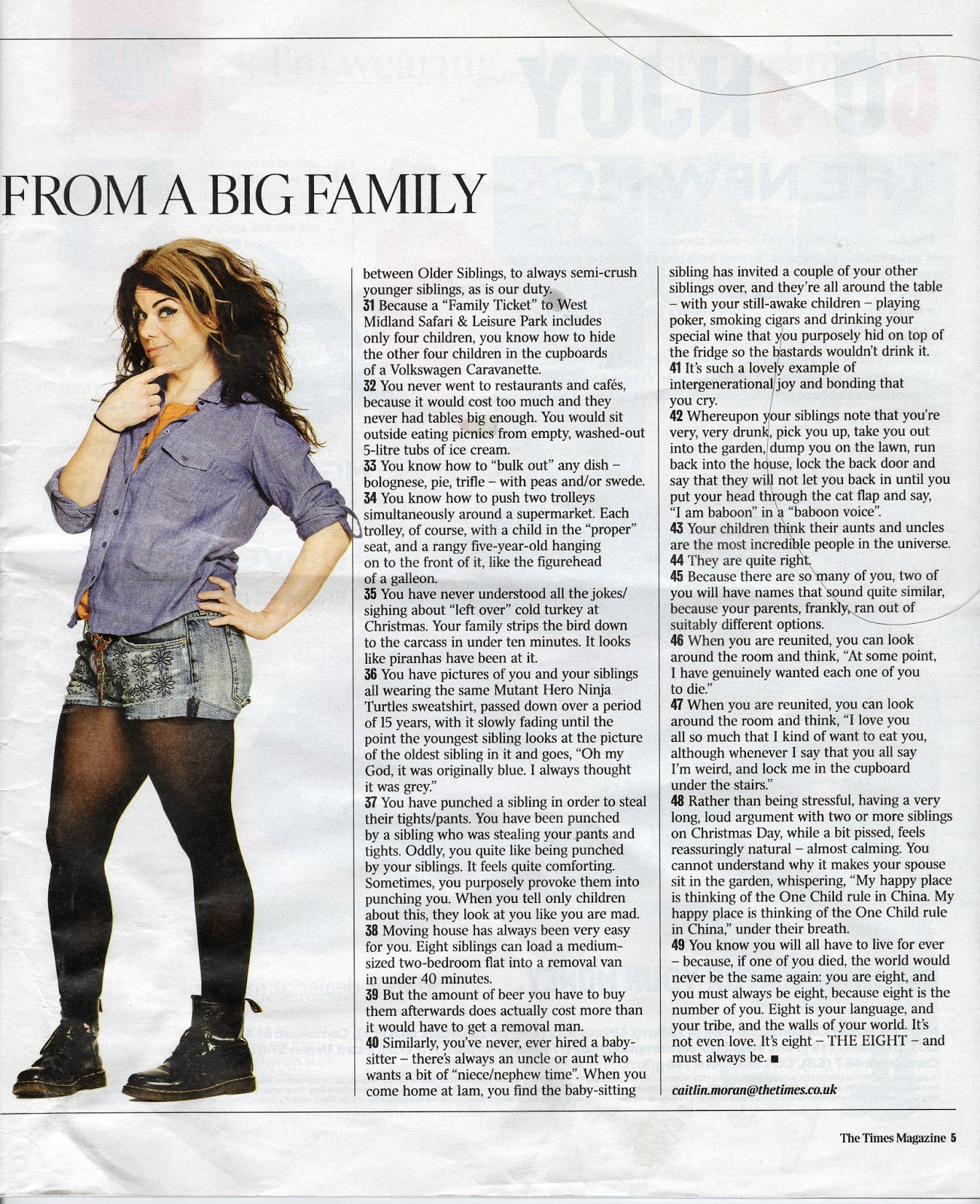 article analysis caitlin moran s my big Caitlin moran meets all souls primary school:  after an hour with caitlin moran and the kids of all  that's what a big thank you to jo and all the staff and.