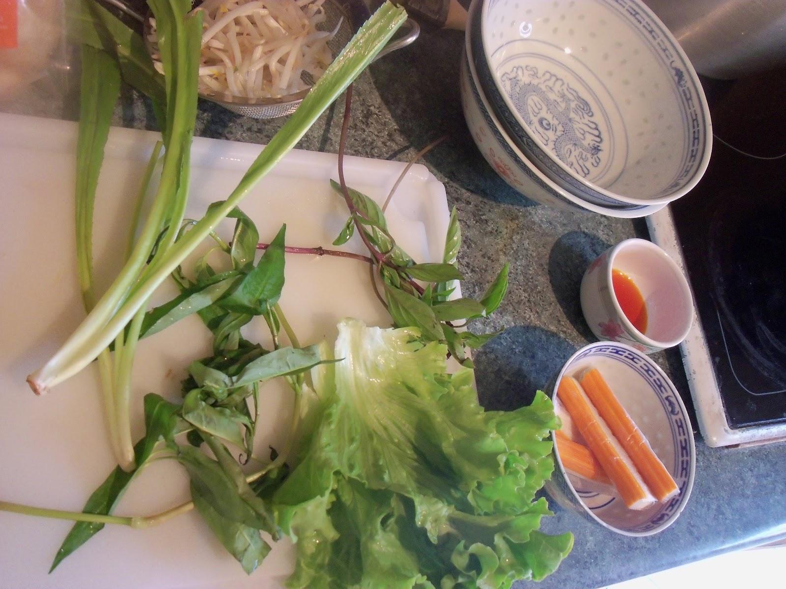 vermicelle de riz sauté nature