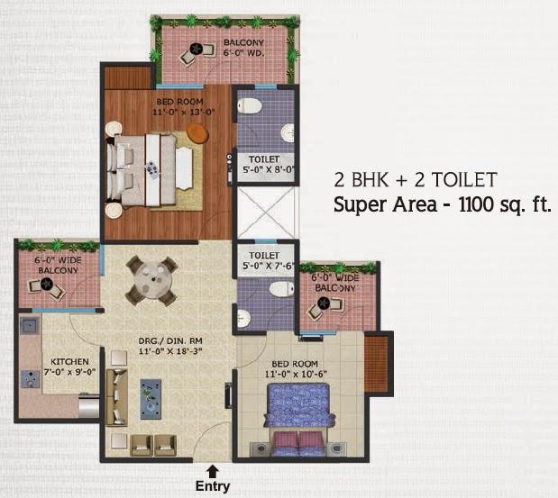 Ecovillage 4 Noida Extension :: Floor Plans