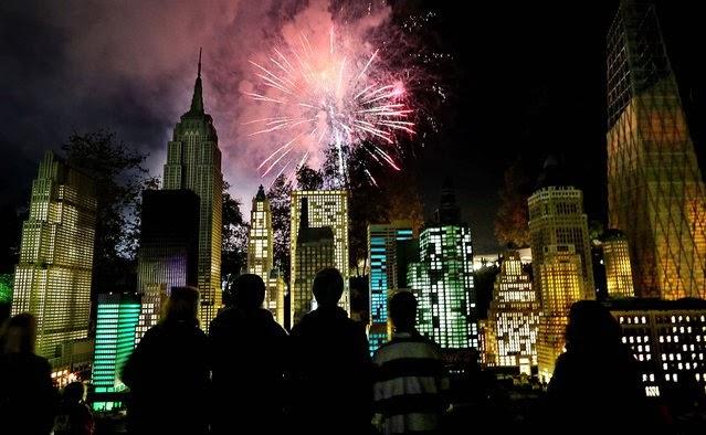 Fuegos Artificiales, año nuevo 2014, California, USA