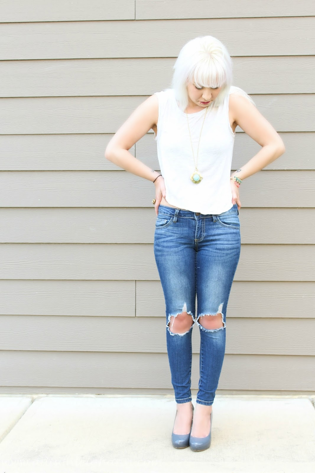 Skinny jeans heels outfits