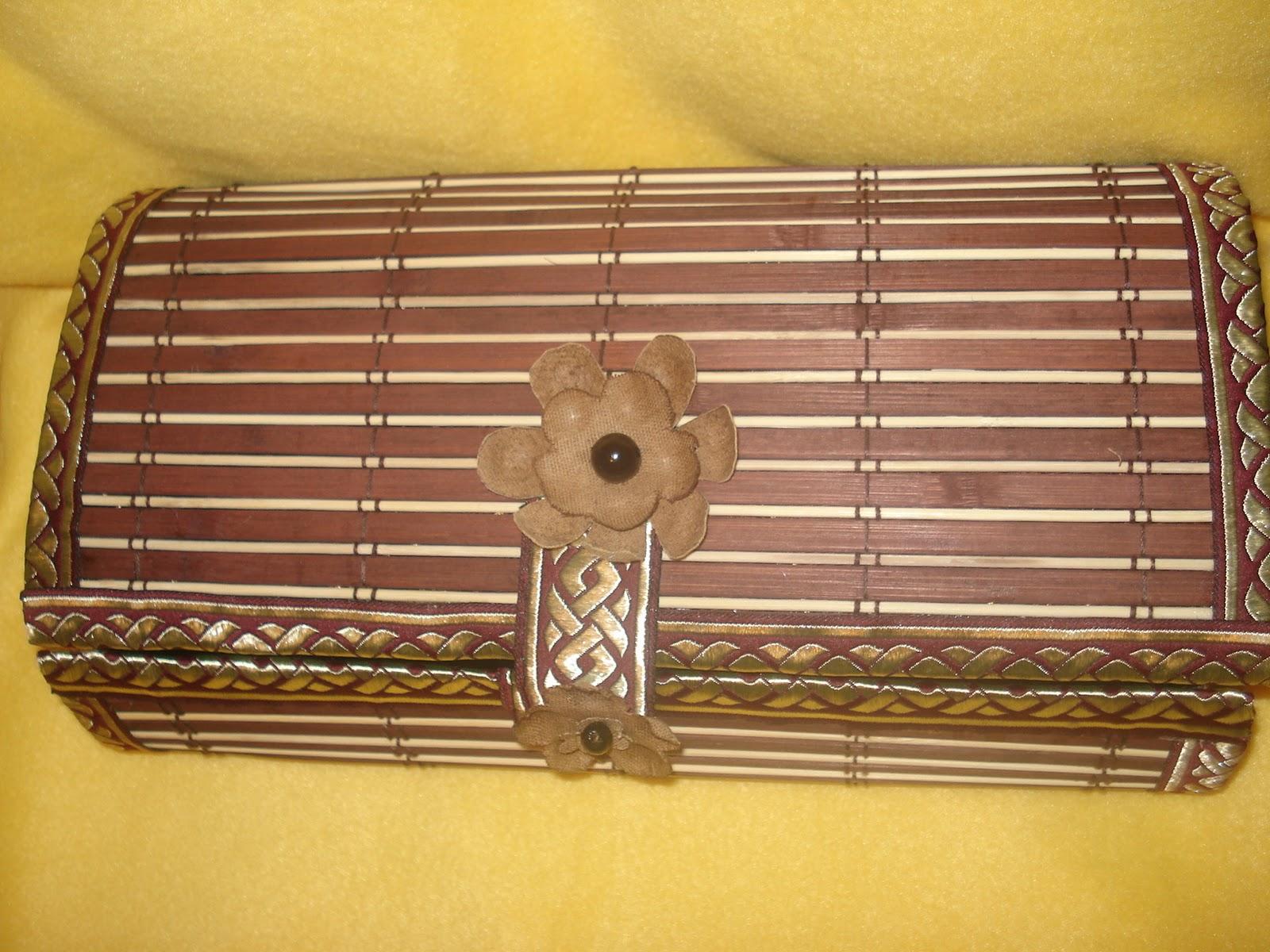 Шкатулка своими руками из бамбуковой салфетки фото