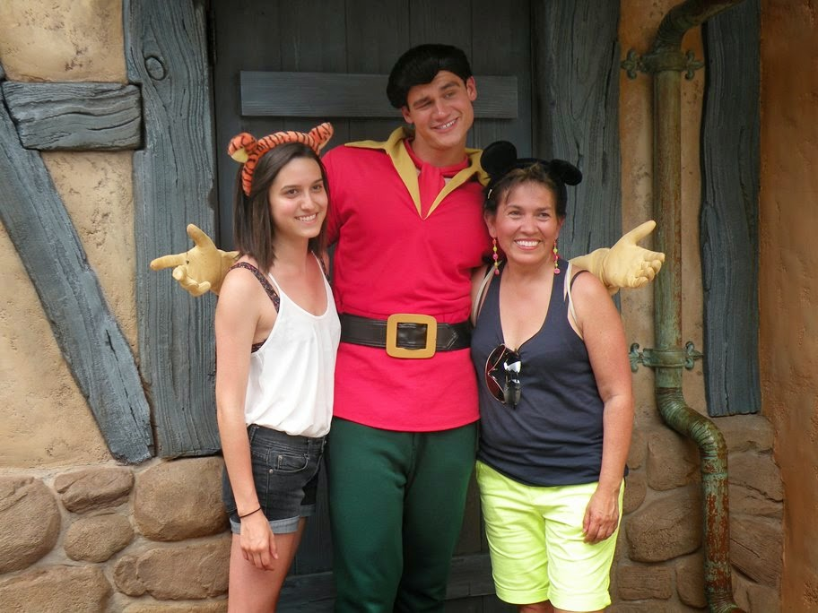 Photo with Gaston at Disney World