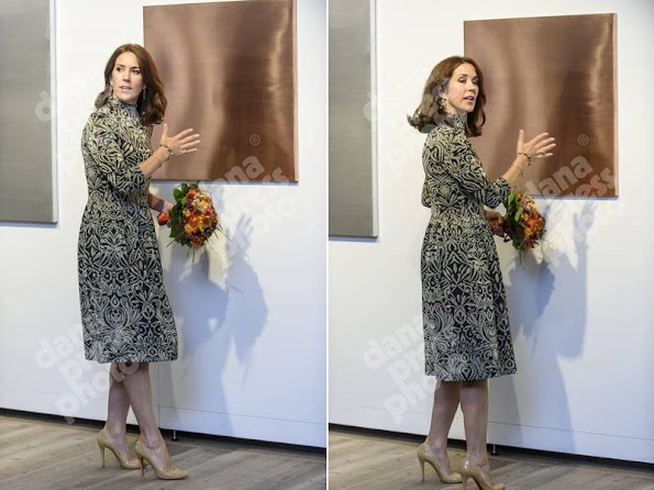 "Crown Princess Mary of Denmark attends the ""St. Loye Prize 2015"" ceremony at Round Tower"
