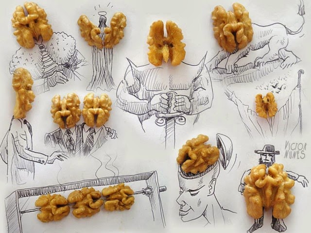 Amazing sketches made with everday objects by Victor Nunes