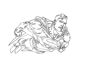 #3 Superman Coloring Page
