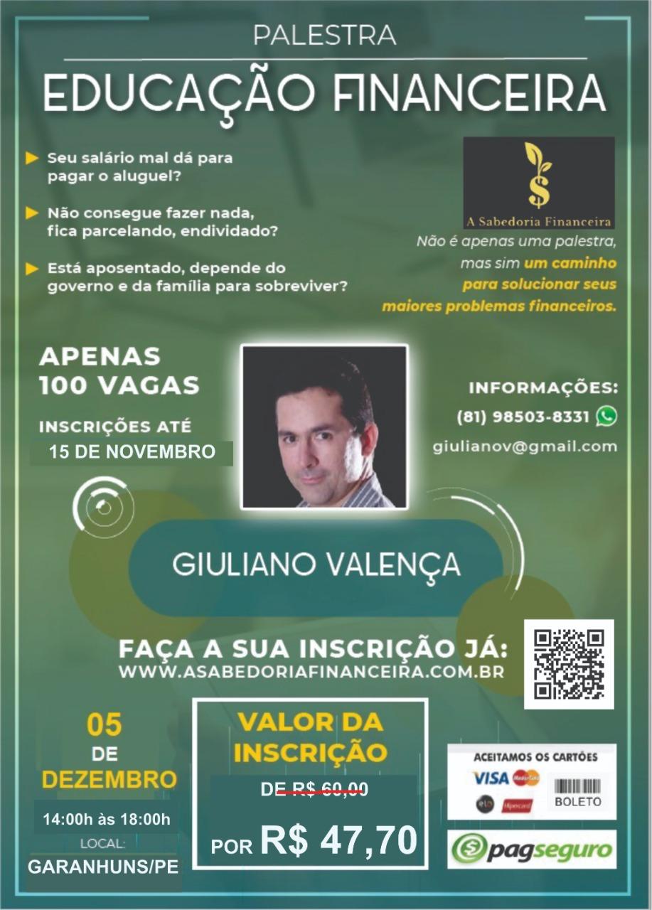 PALESTRA EDUCAÇÃO FINANCEIRA EM GARANHUNS