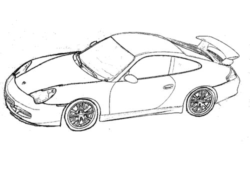 Porsche Car Coloring Pages