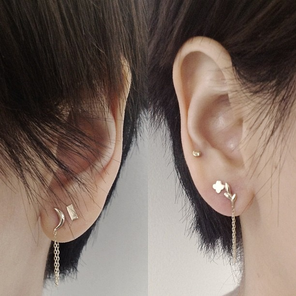 collection of second stud earrings a revolution in fashion fashion