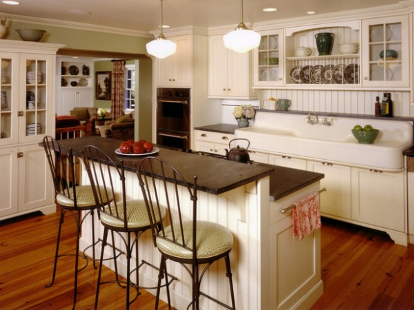 Vintage farmhouse farmhouse kitchen for Country farm kitchen ideas