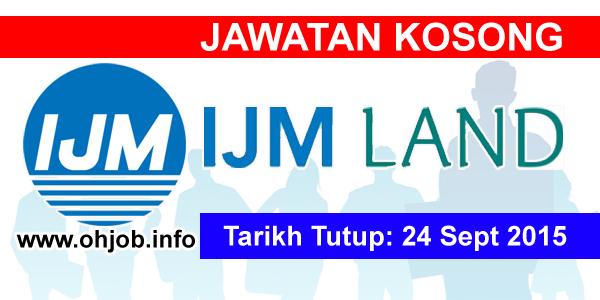 Jawatan Kerja Kosong IJM Corporation Berhad logo www.ohjob.info september 2015