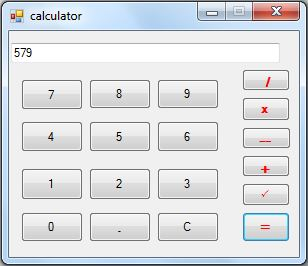 C# Create make calculator simple