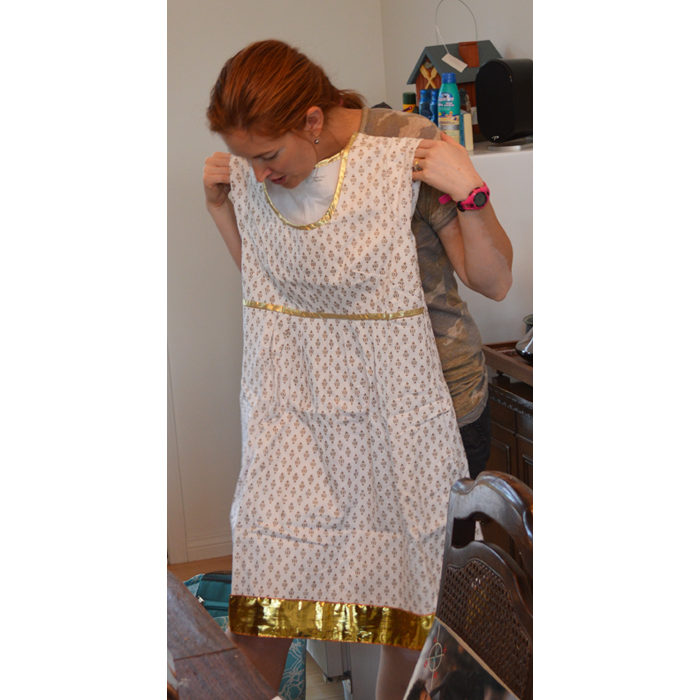 Gold and White Washi Dress sewn by Cicely Ingleside
