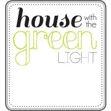house with the green light