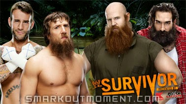 Luke Harper & Erick Rowan vs CM Punk & Daniel Bryan Survivor Series 2013