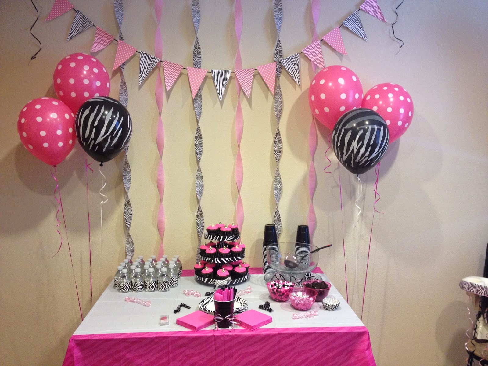 HECK FRIDAYS HOT PINK & ZEBRA BIRTHDAY PARTY