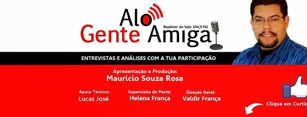 Entrevista no Programa Alô Gente Amiga na Rádio Repórter do Vale