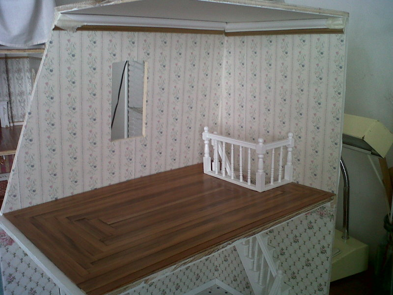 Casita de mu ecas de elizabeth armado de la cocina mansion - Escaleras de techo ...