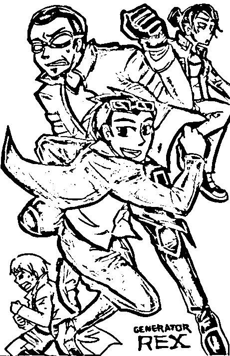 Desenhos do Mutante Rex para Colorir