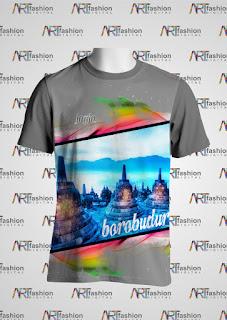 Kaos Edisi Pariwisata JOGJA Borobudur