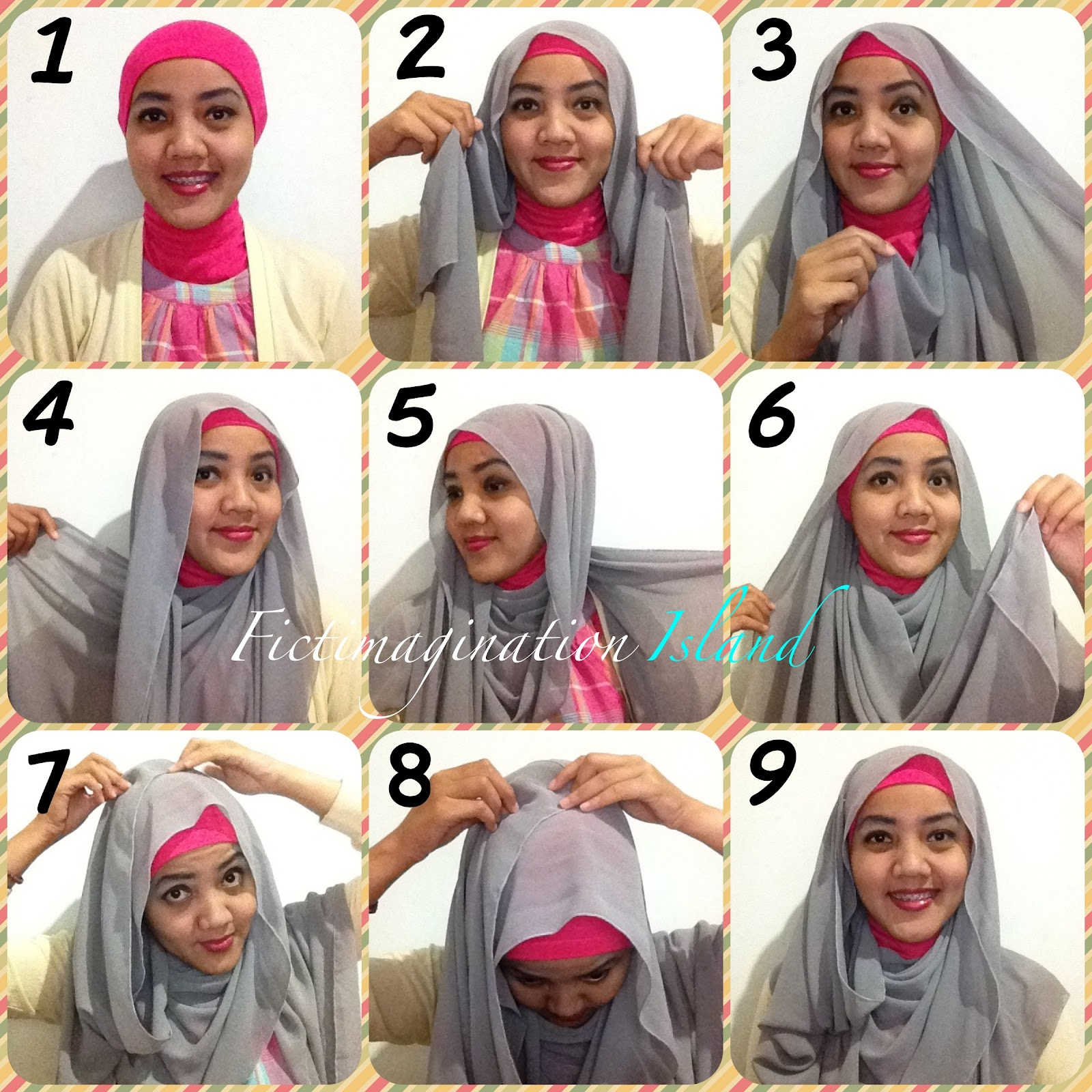 A Thousand Words Hijab Tutorial Drappery Style 1