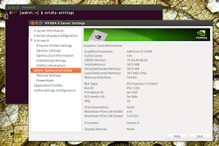 Nvidia settings Ubuntu